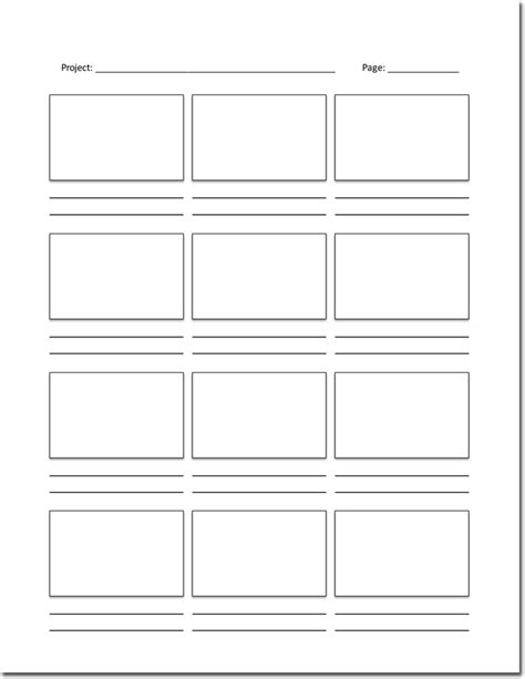 36 free storyboard templates for basic visual and