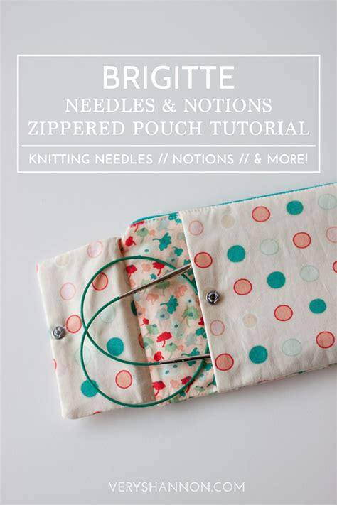 zippered pouch sewing pattern sewing brigitte needles notions zippered pouch