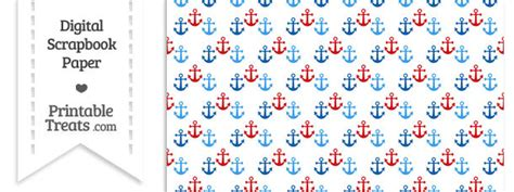 free printable anchor wrapping paper red and blue anchors digital scrapbook paper printable