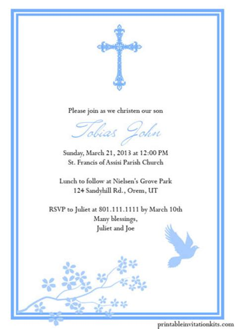 free printable christening cards templates free printable baptism invitations templates