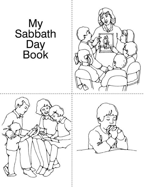 lds sabbath day coloring pages images