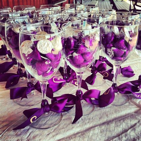 bridal shower centerpiece giveaway jds gc408 connoisseur white wine glass