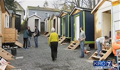 tiny house seattle cool tiny house village opens with electricity to care for seattle homeless good