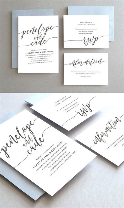 Simple Unique Wedding Invitations best 25 wedding invitations ideas on writing