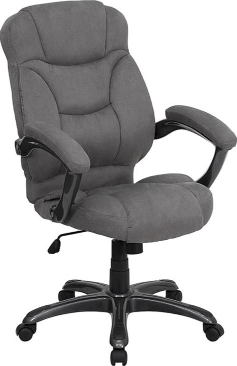 Cloth Desk Chair by Grey Microfiber Fabric Computer Office Desk Chair Ebay