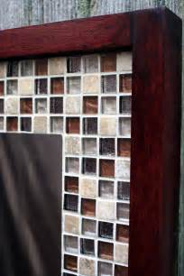 mosaic tile bathroom mirror glass mosaic tile framed mirror brown by natureinspiredcrafts