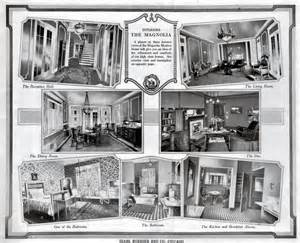 American Foursquare Floor Plans Inside The Sears Magnolia In 1918 And 1985 Sears Modern