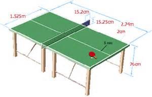 Dimensions D Une Table De Ping Pong