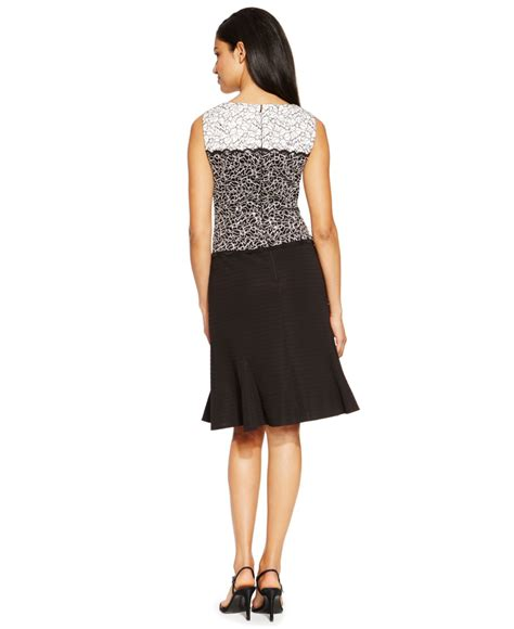 Embellished A Line Dress lyst alex evenings embellished lace a line dress in black