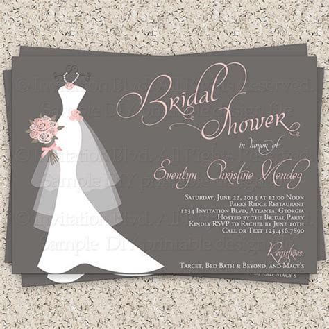 printable wedding evening invitations 30 bridal shower invitations templates psd invitations