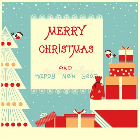 merry christmas presents background  text stock illustration illustration  holidays