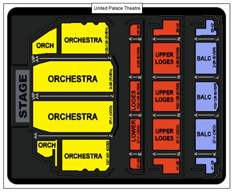 united palace theatre seating capacity united palace theatre seating chart united palace