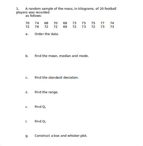 Standard Deviation Worksheet by Collection Of Standard Deviation Worksheets Bluegreenish