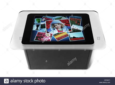 Microsoft Coffee Table Computer Table Top Computer Microsoft Has Built A New Touch Screen Computer Stock Photo Royalty Free