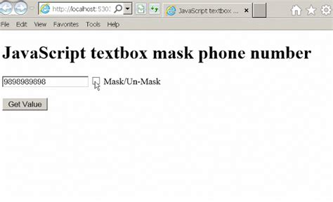 javascript queryselector tutorial jquery mask unmask exle