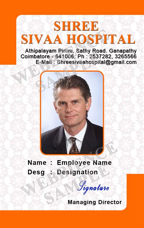 employee id card template id card coimbatore ph 97905 47171 identity cards
