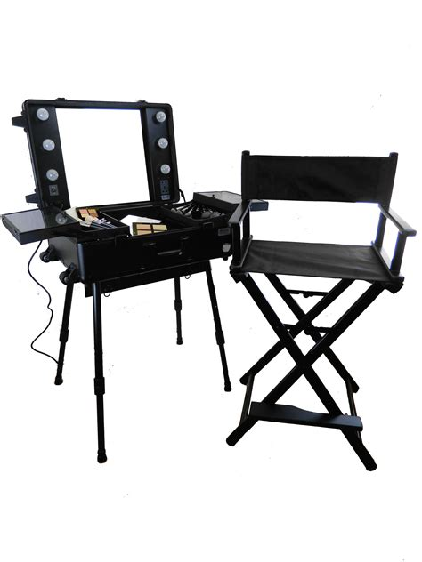 makeup station with lights up station with mirror and light
