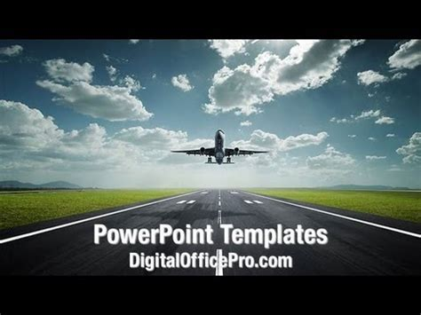 Airplane Take Off Powerpoint Template Backgrounds Digitalofficepro 08459w Youtube Airplane Powerpoint Template