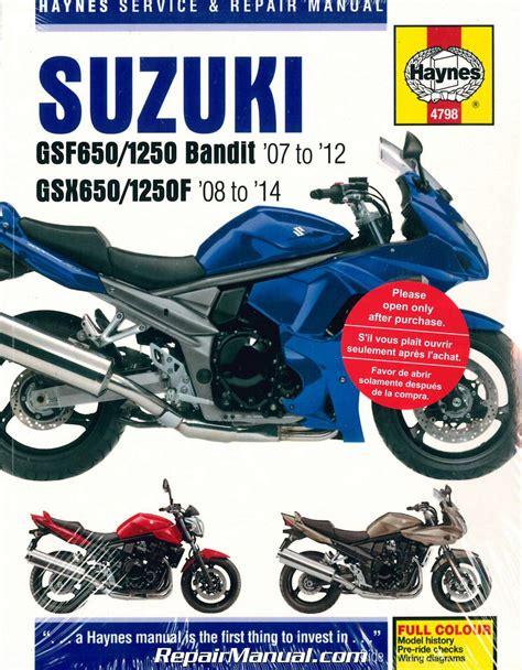 Suzuki Motorcycle Repair Manual Gsf650 Gsf1250 Bandit Gsx650f 2007 2014 Suzuki