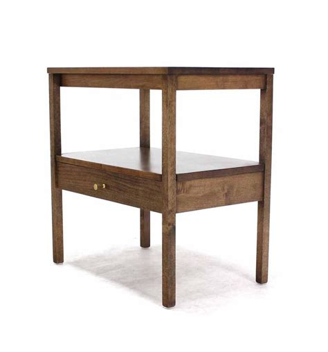 modern end table with drawer mid century modern 1 one drawer end table stand for sale