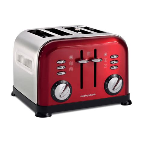 Morphy Richards Accents Toaster Morphy Richards 4 Slice Accents Toaster Red Homeware