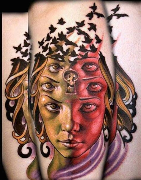 optical illusion tattoos 65 mesmerizing optical illusion tattoos tattooblend