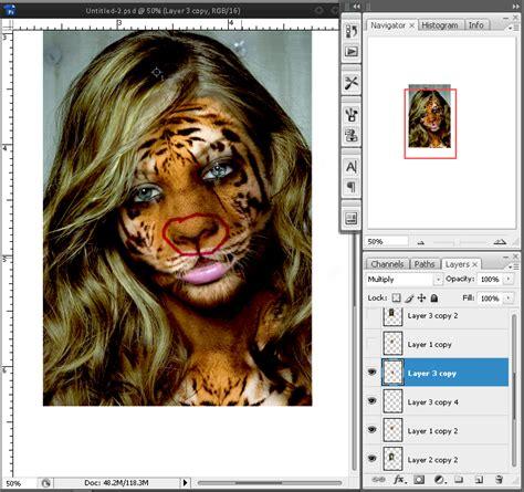 Si Wajah Misterius 1 2 End menggabungkan 2 objek kombinasi wajah dengan photoshop