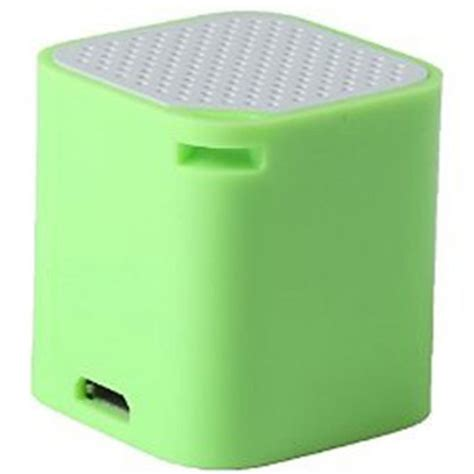 smart box bluetooth speaker with wireless shuter anti lost alert function green
