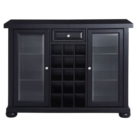 best bar cabinets alexandria sliding top bar cabinet black dcg stores