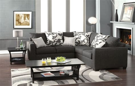 grey sectional living room sm3015 cranbrook sectional sofa in medium gray fabric