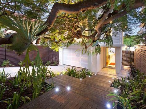 modern garden design using timber with deck amp decorative