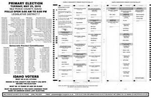Sample ballot dem rep disclosures