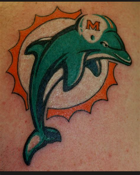 miami dolphins tattoo mystic tom milhoan