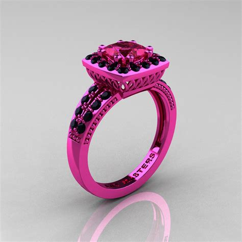 Pink Ring by Renaissance Classic 14k Pink Gold 1 23 Ct Princess Pink