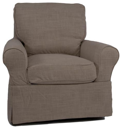 Sunset Trading Horizon Swivel Chair Slip Cover Linen Swivel Chair Covers