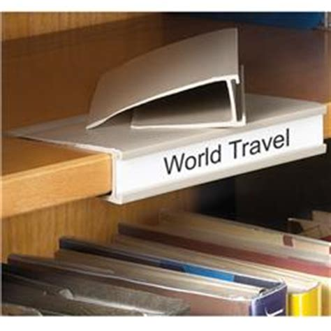 Library Shelf Label Holders by Shelf Label Holders