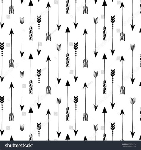 arrow pattern svg tribal arrows on white background seamless stock vector
