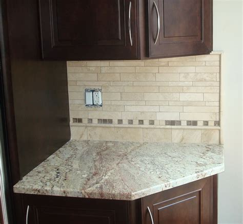 mosaic tile backsplash trim home design ideas