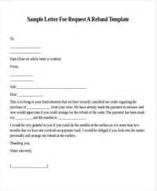 Request Letter Sle For Refund Formal Request Letters