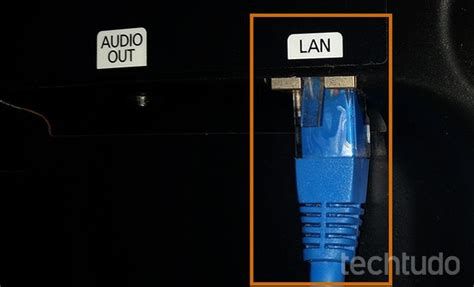 entrada lan como conectar uma smart tv na internet usando cabo de rede