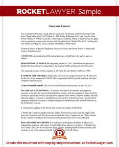 handyman contract agreement form amp template with sample