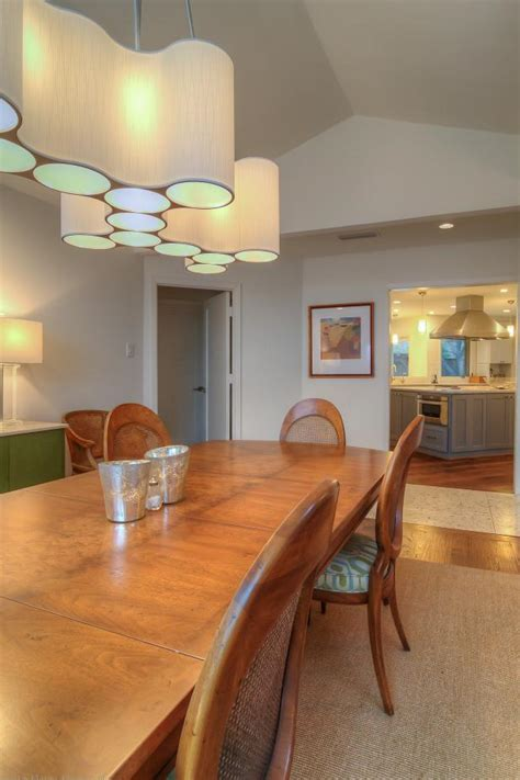 modern light fixture wows  transitional dining room hgtv