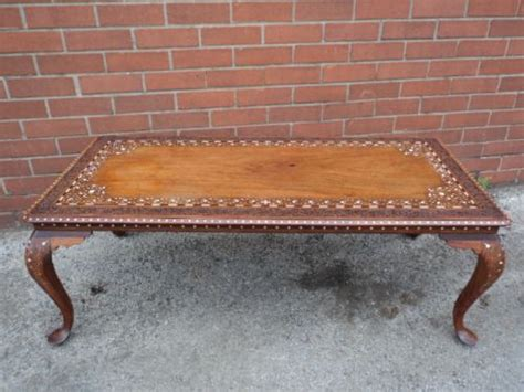 Indian Coffee Tables Uk Antique Inlaid Anglo Indian Coffee Table 228726 Sellingantiques Co Uk