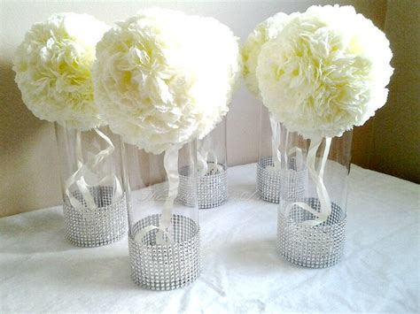 Vases Centerpieces by Centerpiece Cylinder Vases Silver Bling Vases Wedding
