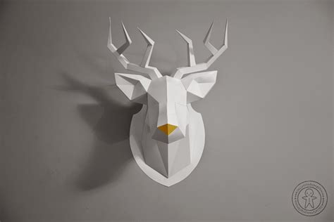 Papercraft Deer - cuernos de malefica paper crafts