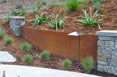metal retaining wall ideas garden pinterest