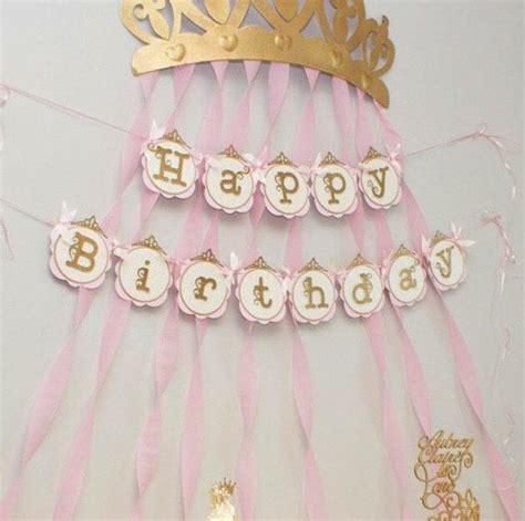 Setelan Motif Princess 8 pink and gold princess birthday banner princess birthday banners and birthdays
