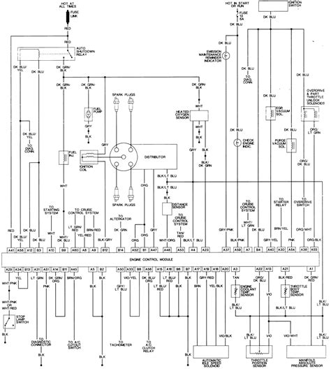 ignition system wiring diagram 1992 dodge dakota fuel