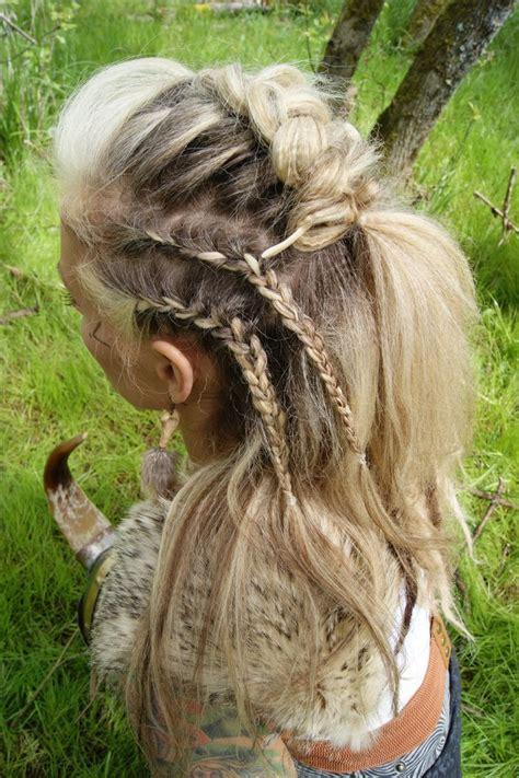 viking braided hairstyle  lavish bronzing boutique