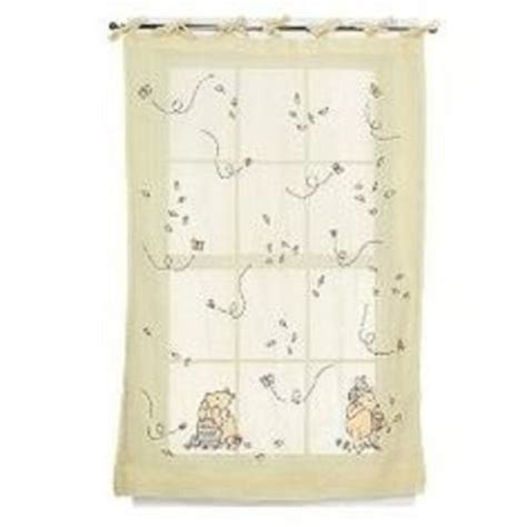 winnie the pooh window curtains classic winnie the pooh window panel rare neutral tie top